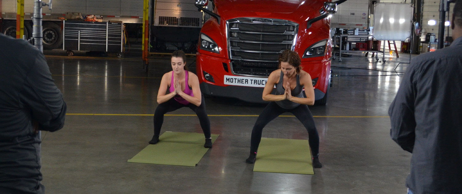 yoga for truckers - yoga mat exercise