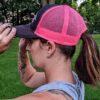 Hot Pink Mother Trucker Yoga Women's Trucker Hat