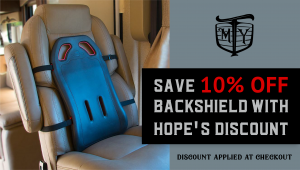 Backshield - seat for truck drivers