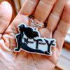 Mother Trucker Yoga Custom key Chain